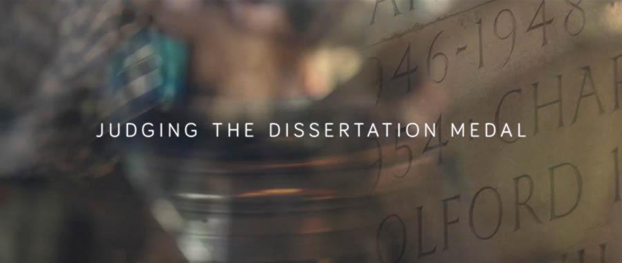 'Judging the Dissertation Medal' Screen Capture